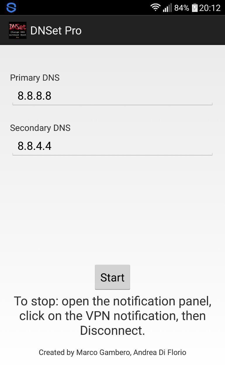 رفع مشکل DNS در اندروید با برنامه DNSet