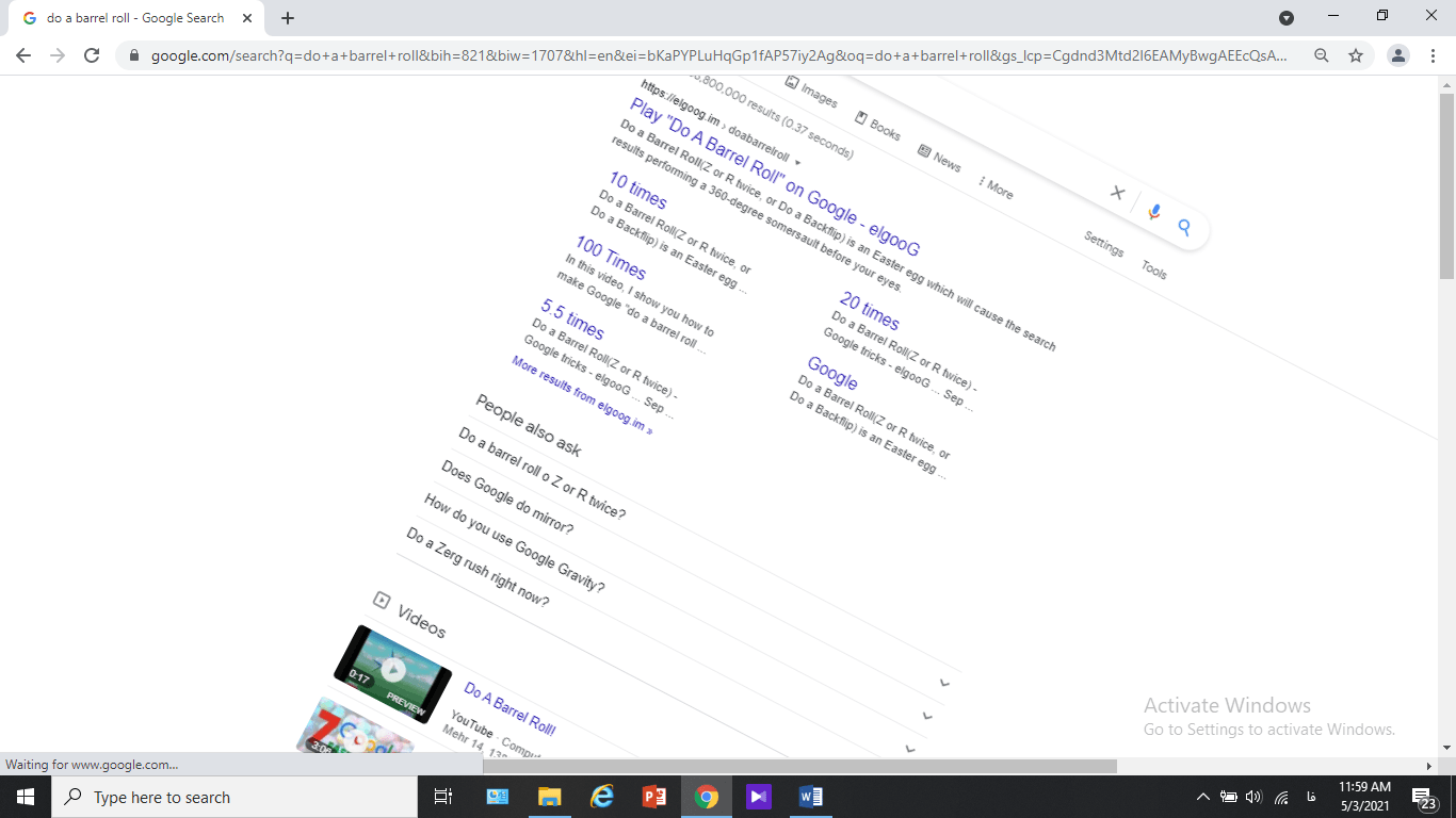 چرخش صفحه گوگل
