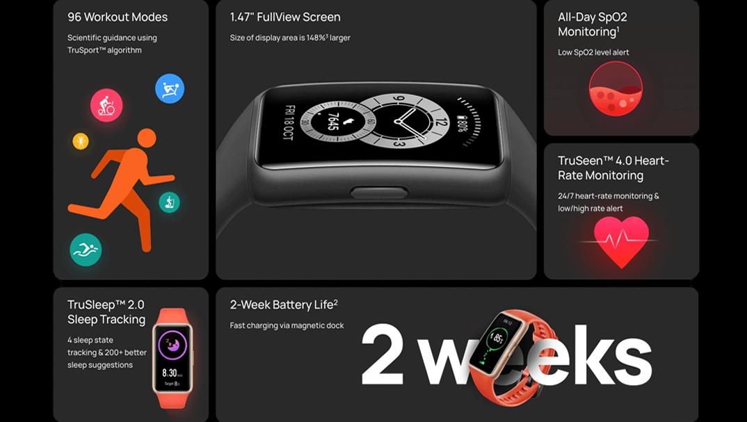 قیمت ساعت هوشمند هوآوی band 6